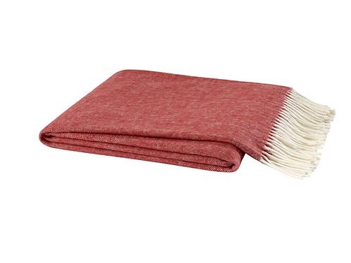 #8376 Red Herringbone Throw