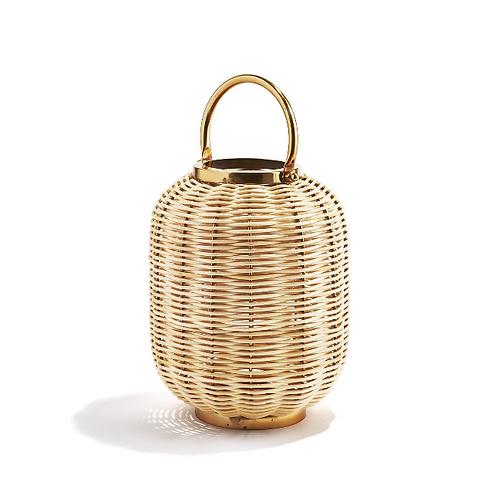 #11670 Large Woven Cane Lantern