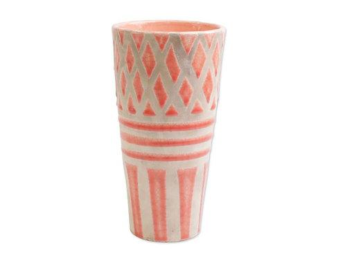 #9985 Garden Geo Tall Coral Vase