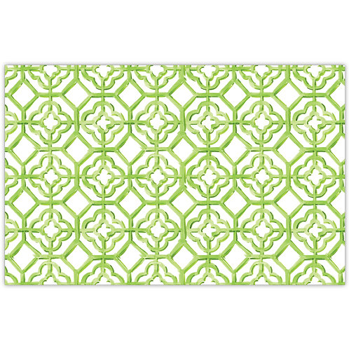 #10164 Lime Painted Tiles Placemats