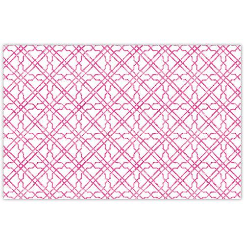 #11784 Pink Cane Trellis Placemats