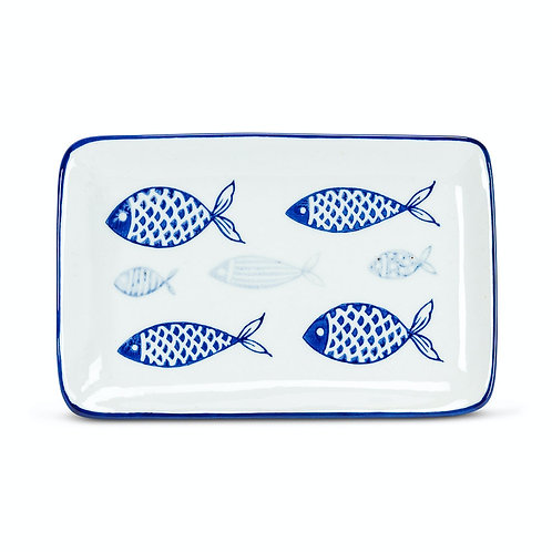 #10096 Blue Fish Tray/Plate