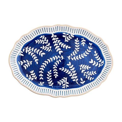#11858 Indigo Vine Platter