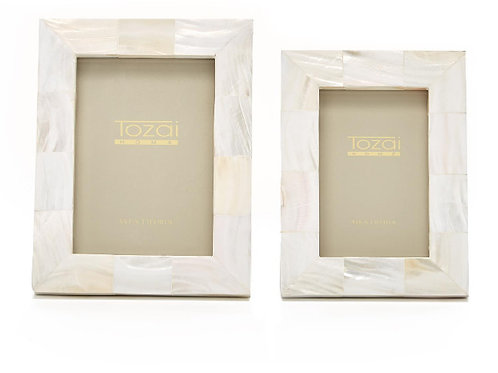 #11658 White Mother of Pearl Frame (4x6)