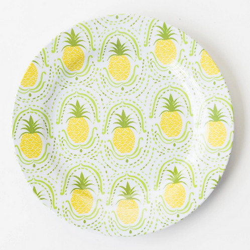 #8087 Pineapple Luncheon Plates, Set of 6