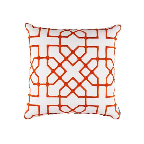 #12157 Vermillion Embroidery Pillow