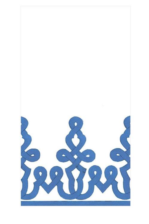 #11718 Paper Linen Guest Towel Napkin (Blue)
