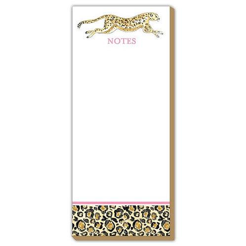 #10173 Cheetah Skinny Notepad