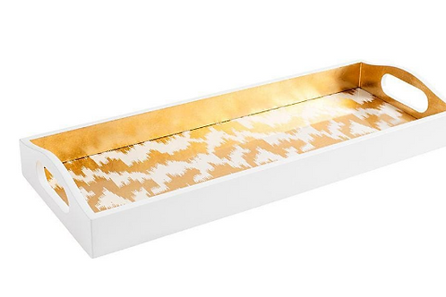 #11696 Modern Ikat Lacquer Tray