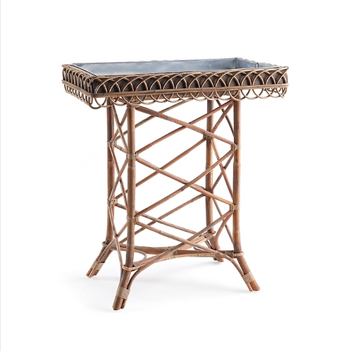#10455 Woven Bamboo Plant Tray Table