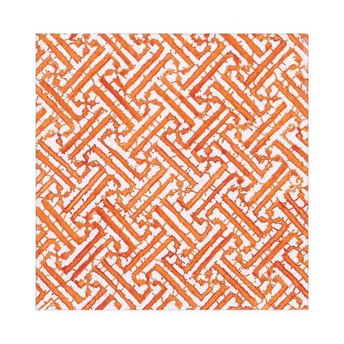 #11730 Luncheon Napkins (Fretwork Orange)