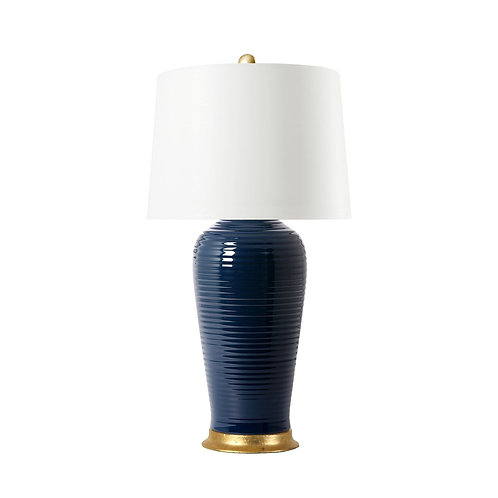 #9093 Ribbed Porcelain Lamp