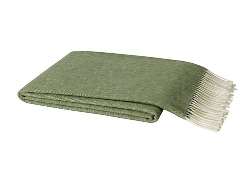 #8373 Olive Herringbone Throw