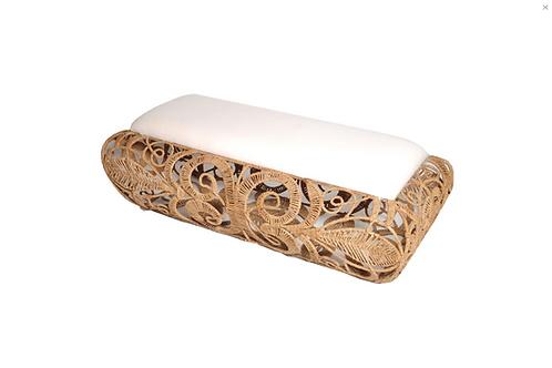 #11851 Woven Seagrass Bench