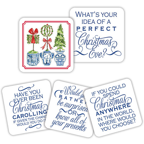 #10154 Holiday Topiary Conversation Coasters