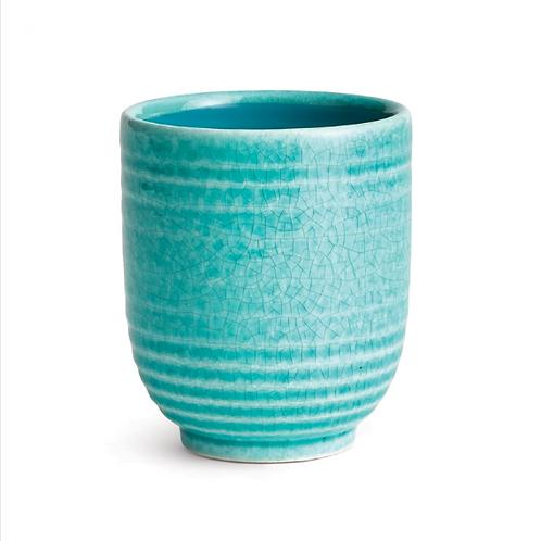 #11461 Mini Turquoise Glazed Planter