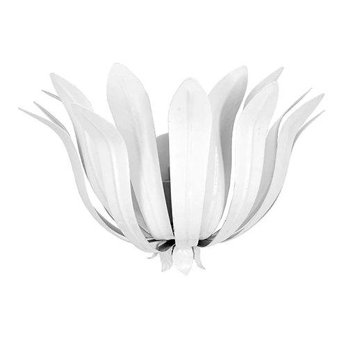 #8422 White Leaf Sconce