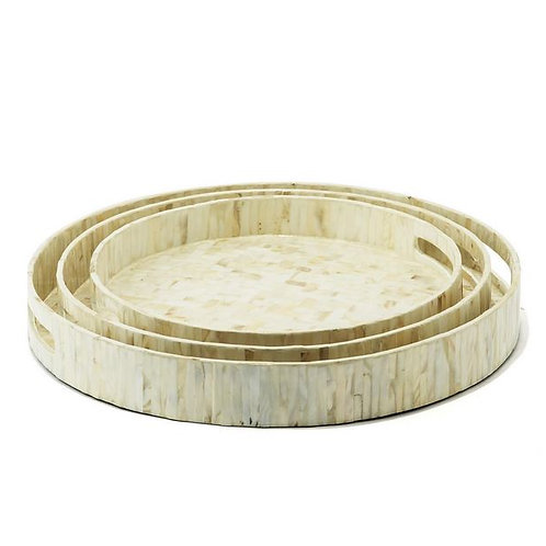 Mother of Pearl Round Trays