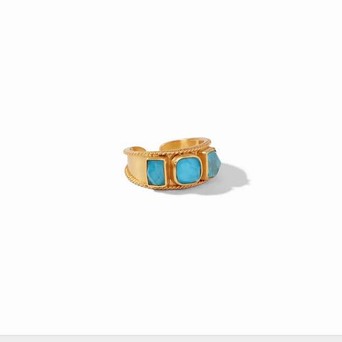 #10941 Savoy Ring Iridescent Pacific Blue - 6/7