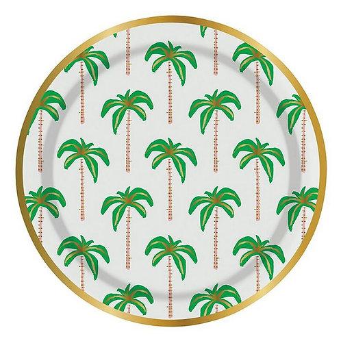 #9993 Palm Tree Paper Plates