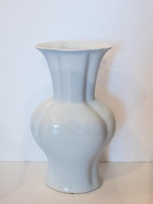 #11625 White Crackle Vase
