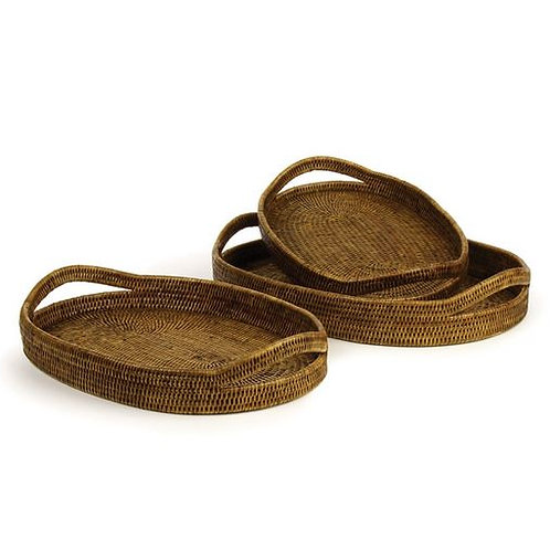 Rattan Oval Serving Trays