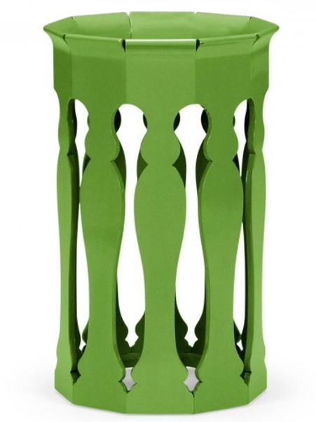 #2319 Green moorish side table