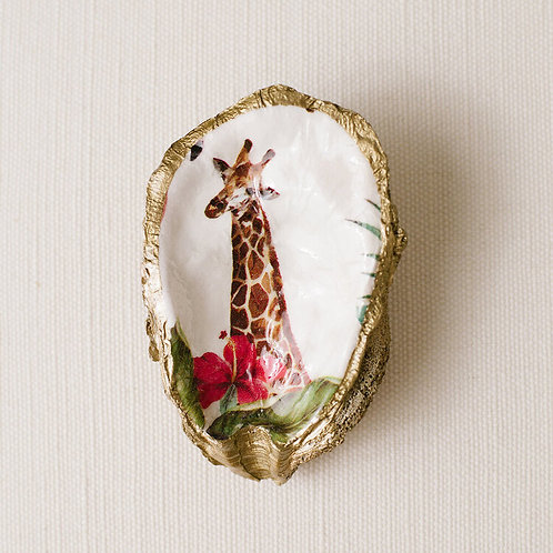 #10722 Tropical Decoupage Oyster Dish