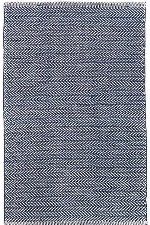 #12062 Herringbone Rug (Indigo/White)