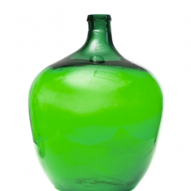 #1598 Green Glass Jug Balon