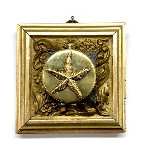 #10672 Gilt Frame w/Starfish on Compass