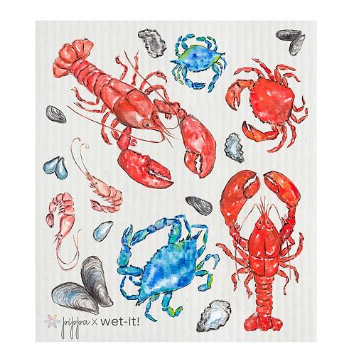 #11088 Crustacean Swedish Dish Cloth