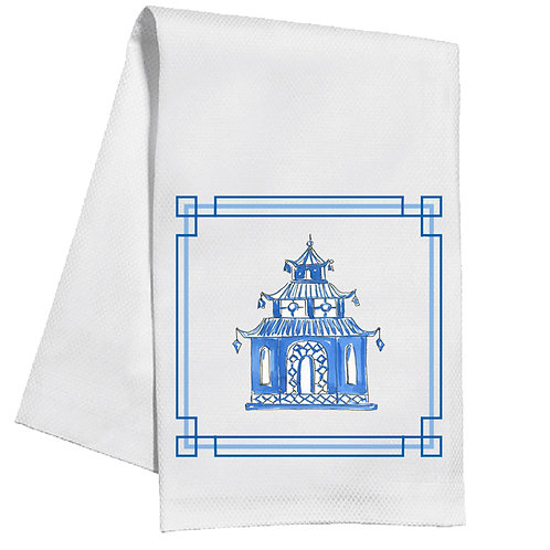 #11758 Blue Pagoda Towel