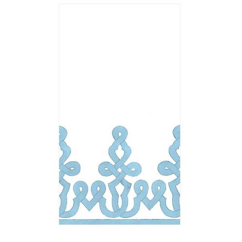 #11720 Paper Linen Guest Towel Napkins (Light Blue)