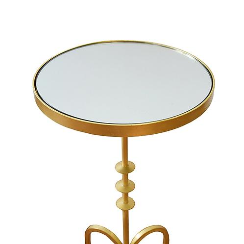 #10865 Mirror Top Cigar Table (Gold)