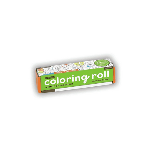 #6353  Animals of the World Mini Coloring Roll