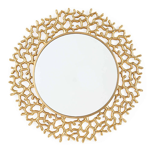 #10568 Gold Coral Mirror