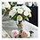 Thumbnail: #10456 White Garden Rose Arrangement in Glass Vase