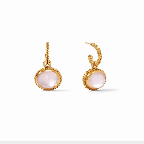 #10914 Calypso Hoop & Charm Earring - Iridescent Rose