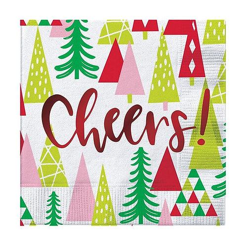 #10006 Foil Cheers!  Christmas Cocktail Napkins