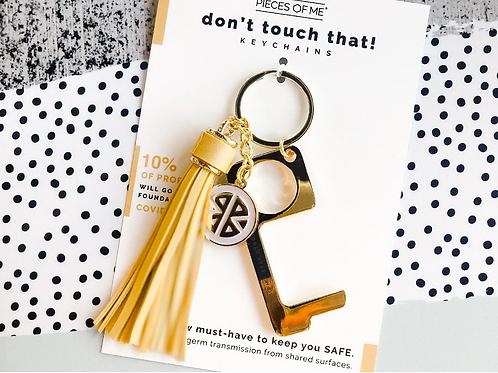 #9805 Don't Touch That! Keychain, Yellow Tassel