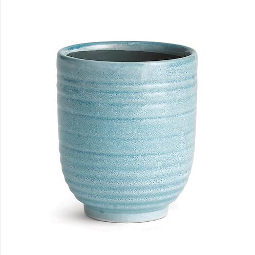 #11460 Mini Blue Glazed Pot
