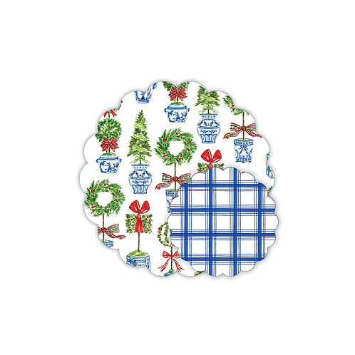 #10155 Holiday Topiary Placemats & Doilies