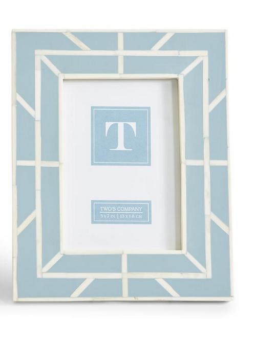 #10799 Geometric Bone Frame (Light Blue)