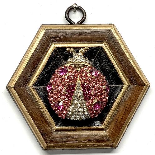 #11501 Wooden Frame w/ Sparkle Ladybug