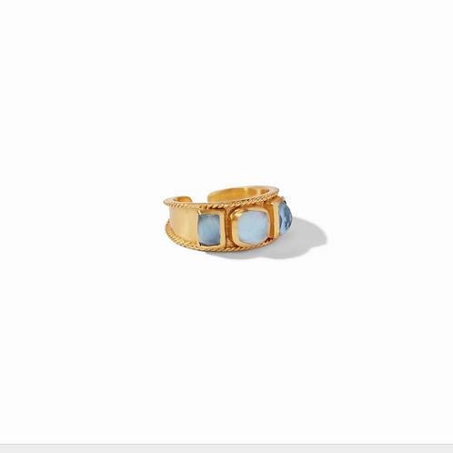 #10940 Savoy Ring Iridescent Chalcedony Blue  - 8/9