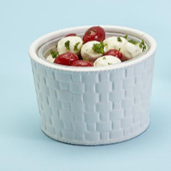 #11681 Sm. Basket Weave Container