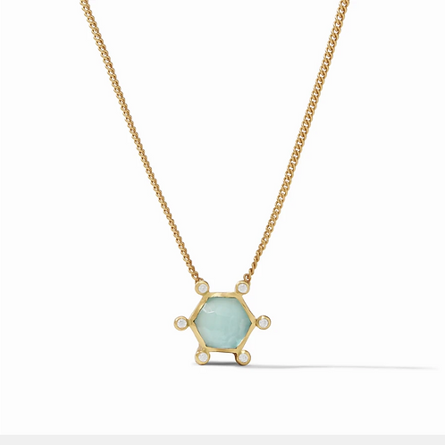 #11938 Cosmo Solitaire Necklace (Bahamian Blue)