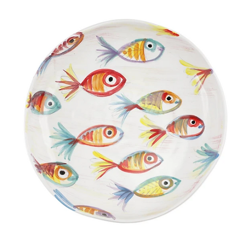 #9957 Pesci Colorati Shallow Bowl