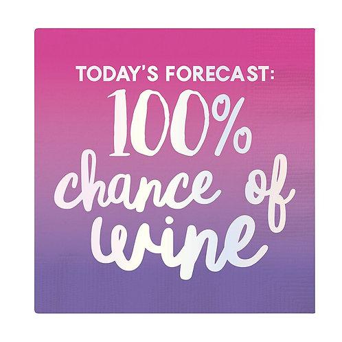 #11796 Forecast Wine Napkin